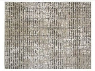 Gertmenian Modern Abstract Rug Distressed High low Area Carpet  9x13 X large  Beige Stripes