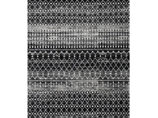 nulOOM Bodrum RZBD16G 4  x 6  Black Area Rug