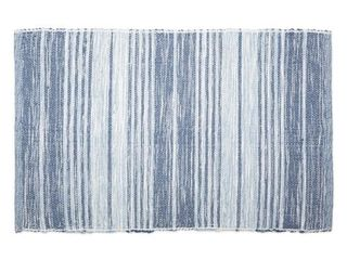 DII Variegated French Blue Recycled Yarn Rug