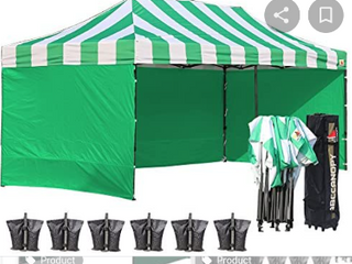 Abccanopy 10 x 20 Carn  White with Green Walls    Not Inspected
