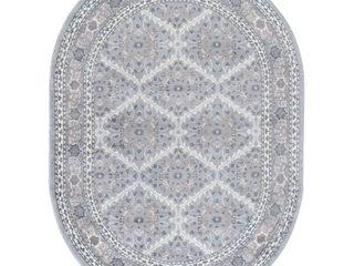 Tayse MDN3758OVl Madison Beauregard 5 1 4  X 7 1 4  Traditional Oriental Oval Area Rug