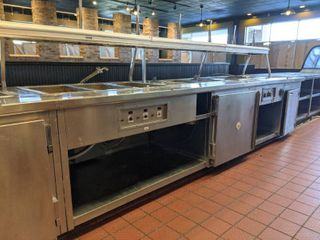 Wells Drop In Hot Food Warmer Counter With Mini Cooler  Buyer Responsible For Removal