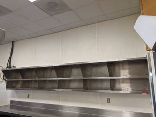 Stainless Steel Overhead Storage Rack  Buyer Responsible For Removal