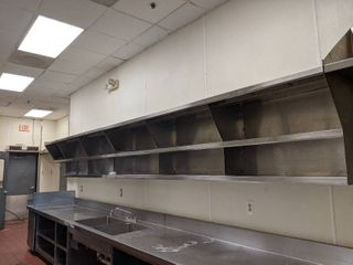 Stainless Steel Overhead Storage  Buyer Responsible For Removal