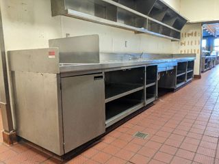 Stainless Steel Prep Table With Built In Sinks  Buyer Responsible For Removal