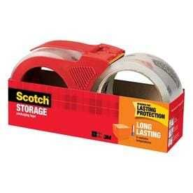 Scotch Storage 2 Pack 1 88 in x 65 6 Yard Clear Packing Tape