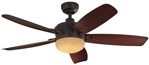 Harbor Breeze Saratoga 48 in Oil Rubbed Bronze led Indoor outdoor Ceiling Fan