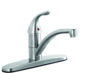 AquaSource Stainless Steel PVD 1 Handle low Arc Kitchen Faucet