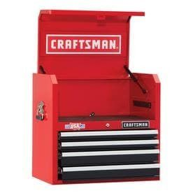 CRAFTSMAN Heavy Duty 26 in W x 24 5 in H 4 Drawer Ball bearing Steel Tool Chest  Red