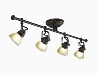 allen   roth Tucana 4 light 34 75 in Oil Rubbed Bronze Dimmable Standard Track Bar Fixed Track light Kit