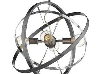 Atom 4 light Chandelier