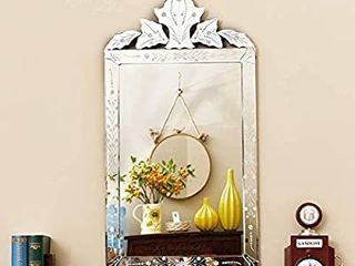 KOHROS Wall Mounted Squared Mirror  Venetian Mirror Decor for The living Room  Bathroom  Bedroom  W 21  X H 39 5  Rectangle