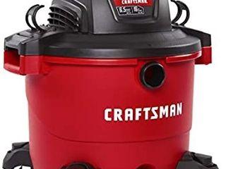 CRAFTSMAN CMXEVBE17595 16 Gallon 6 5 Peak HP Wet Dry Vac  Heavy Duty Shop Vacuum with Attachments