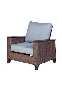 allen   roth Wylie Cove Set of 2 Brozen Wicker Metal Spring Motion Conversation Chair s  with Cast Mist Slat Seat Retails   648