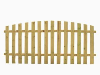 4 ft H x 8 ft W Pressure Treated Spruce Pine Fir Scallop Fence Panel