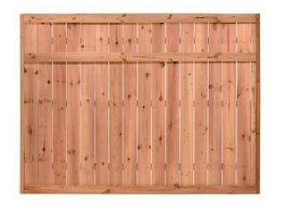 6 ft H x 8 ft W Pressure Treated Pine Flat Top Fence Panel