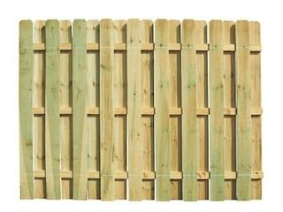 Severe Weather 6 ft H x 8 ft W Pressure Treated Pine Dog Ear Fence Panel