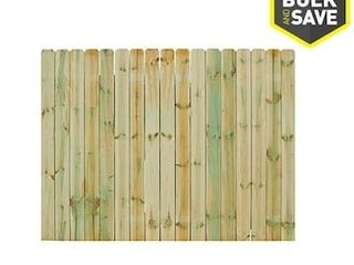 Severe Weather 6 ft H x 8 ft W Pressure Treated Spruce Dog Ear Fence Panel