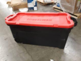 CRAFTSMAN 50 Gallon  200 Quart  Black Tote with latching lid