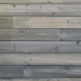 C C Wood Products Heritage Series 3 5625 in x 4 ft Gunmetal Grey Pine Wood Wall Plank