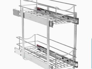8 5 in W x 19 19 in H 2 Tier Pull Out Metal Soft Close Baskets   Organizers