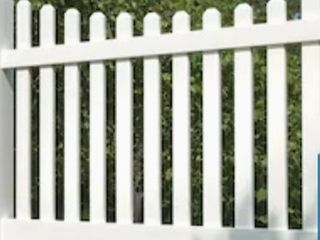Freedom Ready to Assemble lennox scallop 4 ft H x 8 ft W White Vinyl Scallop Fence Panel
