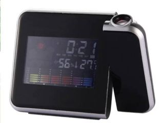 Attention Projection Digital Weather lCD Snooze Alarm Clock Projector