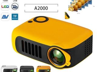 Mini Home Theater Movie Portable Projector 1080P Multimedia Video Projector 2  lCD HDMI USB SD Card laptops 1800 lM  Retail 101 49