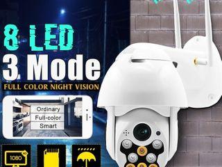 8 lED 1080P WiFi Security Camera IP Camera Waterproof Full color Night Vision Audio IR Surveillance Outdoor Security Camera