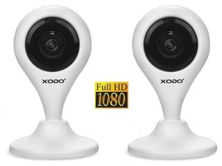 XODO E4 HD 1080p HD Security Camera with Built Two Way Talk and a Siren Alarm  White  Works with Alexa   2 Pack   N A   N A  Retail 78 98