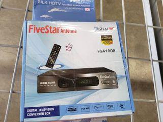 Five Star HD Digital TV Converter Box   40 Miles Antenna