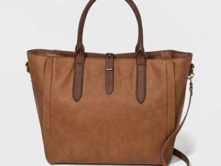 Tote Handbag with Toggle Hardware   Universal Thread Cognac  Red