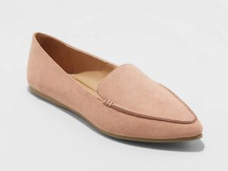 Women s Micah Faux leather Pointy Toe loafers   A New Day Blush Pink 6 5