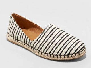 Women s Andi Microsuede Espadrille Flats   A New Day Cream 8  Ivory