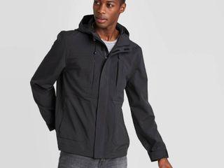 Men s Elevated Softshell Jacket   Goodfellow   Co Black M