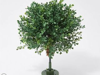English Gardens Indoor Outdoor 15  Boxwood Sphere with Ground Stake