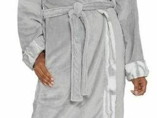 Dennis Basso Plush Robe with Faux Fur Trim Monogram Initial C SIZE 1x