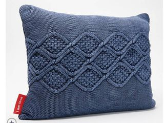 Peace love World Set of 2 20  x 16  Knitted Pillows
