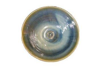 Colm De Ris Emerald Stoneware Fruit Bowl