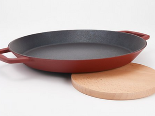Black   Cook s Essentials Nonstick 14  Cast Iron Elite Oval Pan