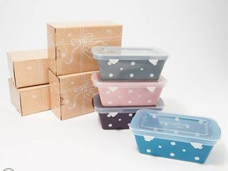 Temp tations Set of 4 Mini loaf Pans with Gift Boxes