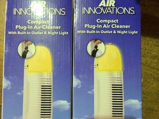 2 Silent Air Innovations Compact Plug In Ionic Air Cleaner With Nightlight