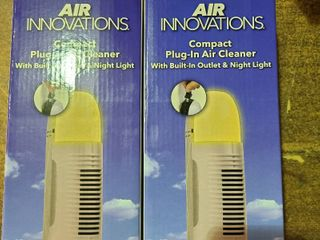 Air Innovations Compact Plug in Air Cleaner With Outlet And Night light Xj209