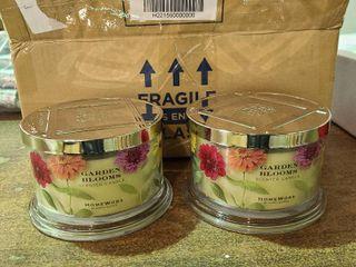 HomeWorx by Harry Slatkin S 2 luxury Floral 4 Wick Candles Garden Blooms