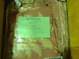 Boylan 100  Cotton Jacquard Woven Bedspread Blush Queen