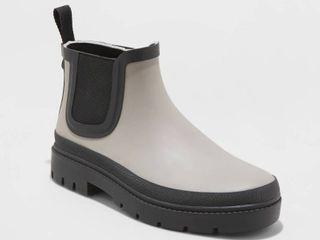 Women s Kaden Rubber Double Gore Rain Boots   Universal Thread Gray 10
