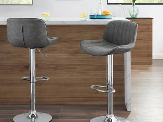 Art leon Velvet Armless Swivel Barstools with Golden Steel legs Set of 2  Retail 215 99   note picture is for the look not color