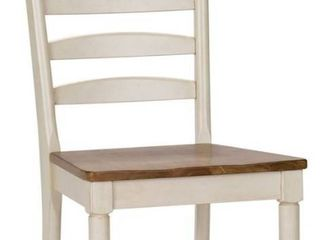 liberty Furniture Industries Springfield  Set of 2  ladder Back Side Chair  RTA  W19 x D23 x H42  White