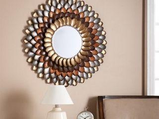 Southern Enterprises Albion Round Decorative Mirror in Multicolor