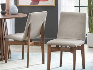 Set of 2 Pavia Dining Chair Walnut   lifestorey